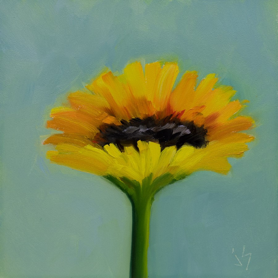 """September Sunflower"" original fine art by Johnna Schelling"