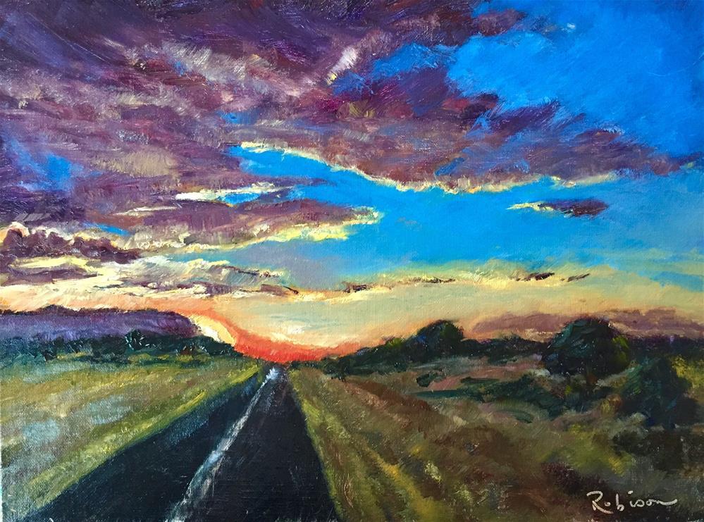 """""""Highway to Dawn"""" original fine art by Renee Robison"""