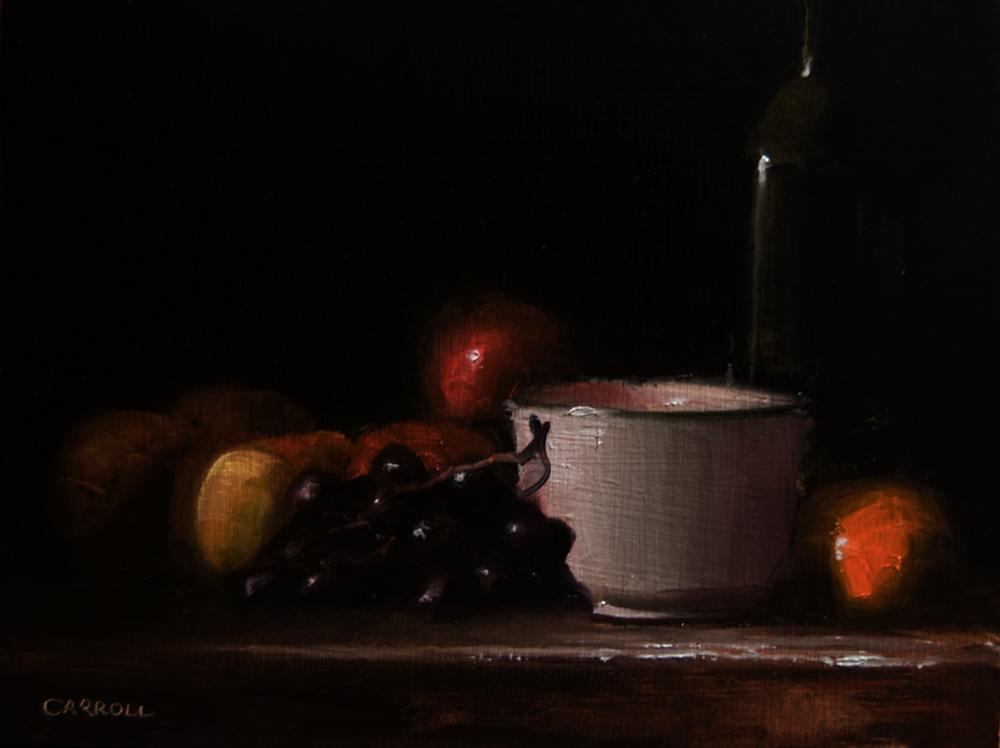 """""""Pot with Fruit"""" original fine art by Neil Carroll"""