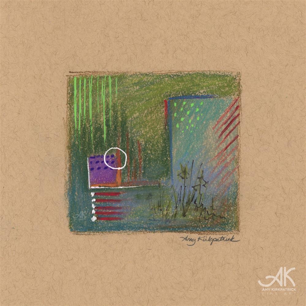 """ABSTRACT MINI 1 #0767"" original fine art by Amy Kirkpatrick"