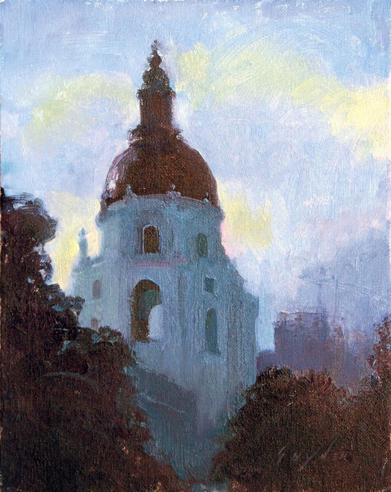 """""""'City Hall'"""" original fine art by Julie Snyder"""