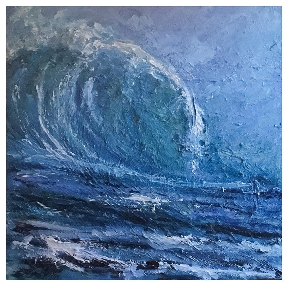 """""""Curling Wave 795"""" original fine art by Claudia Finn"""
