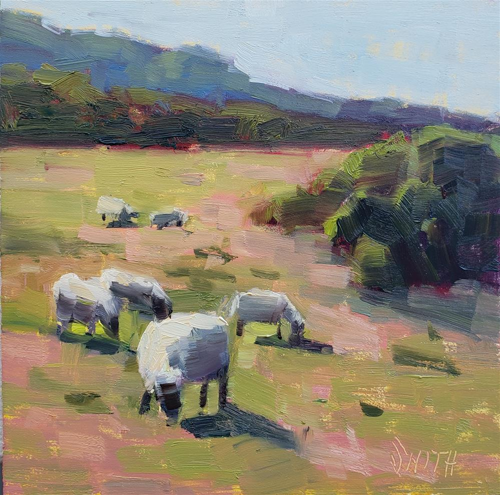 """""""For The Love of Sheep"""" original fine art by Barbie Smith"""