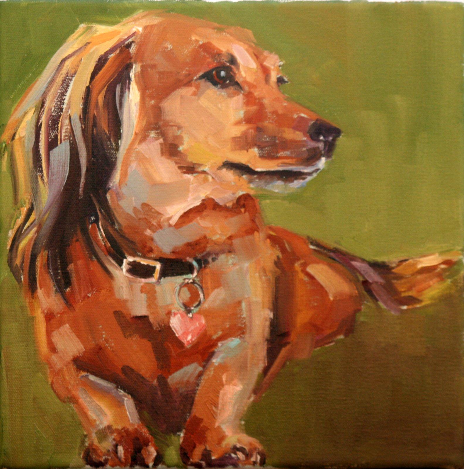 """lulu"" original fine art by Carol Carmichael"