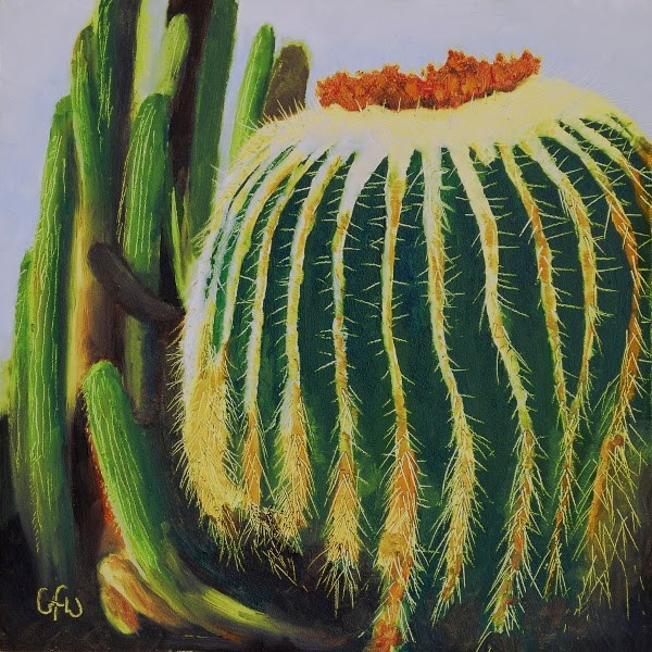 """Barrel Cactus"" original fine art by Gary Westlake"