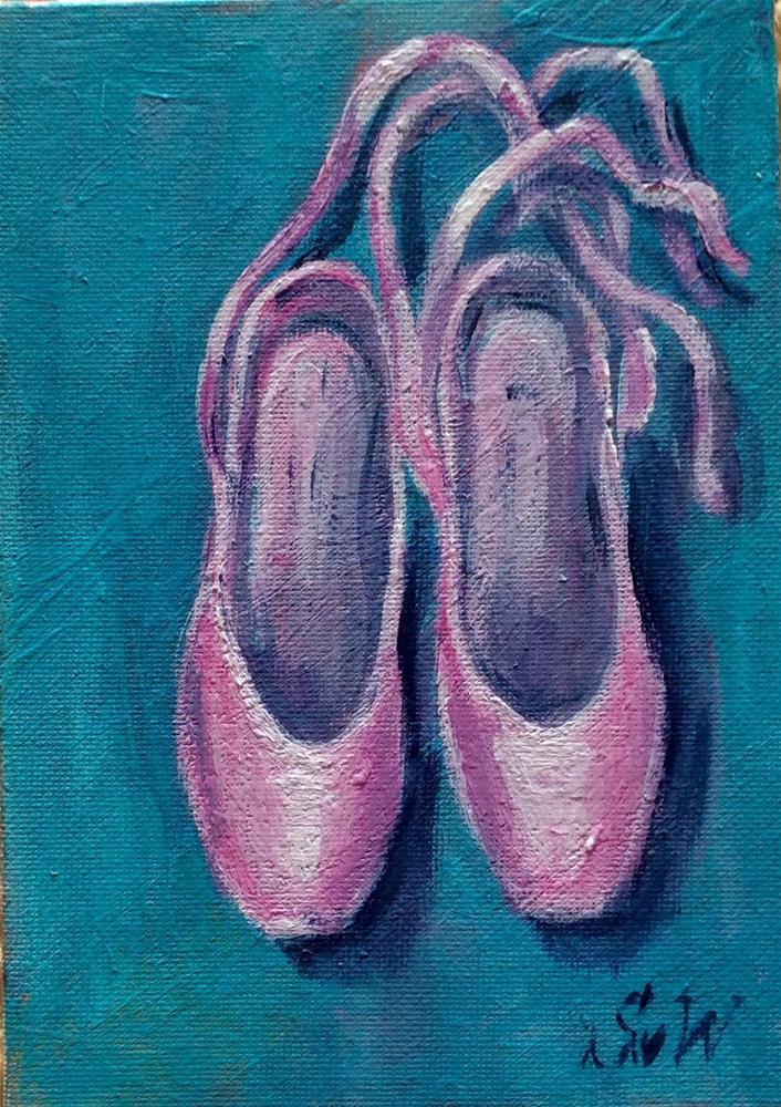 """""""Ballet slippers"""" original fine art by Sonia von Walter"""
