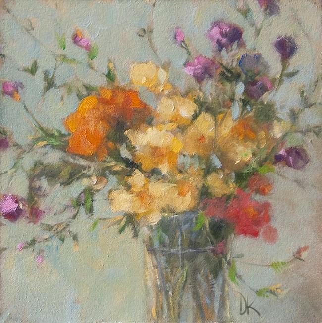 """Petite Bouquet de Fleurs - Floral  by Deb Kirkeeide"" original fine art by Deb Kirkeeide"