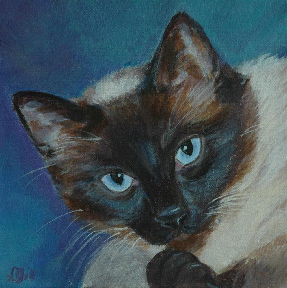 """Cocoa"" original fine art by Lyn Gill"