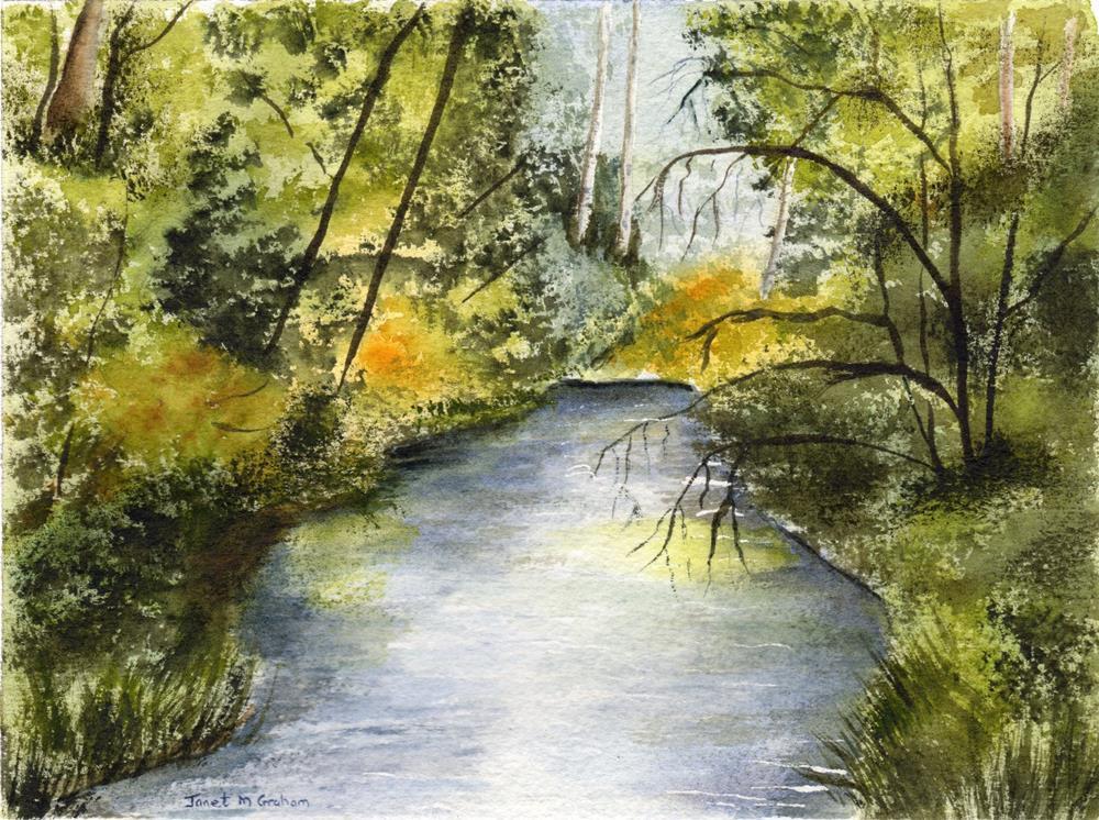 """Summer River"" original fine art by Janet Graham"