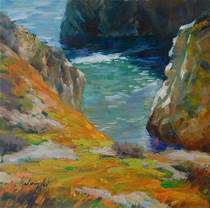 """""""Magical Cove"""" original fine art by Kelvin Lei"""
