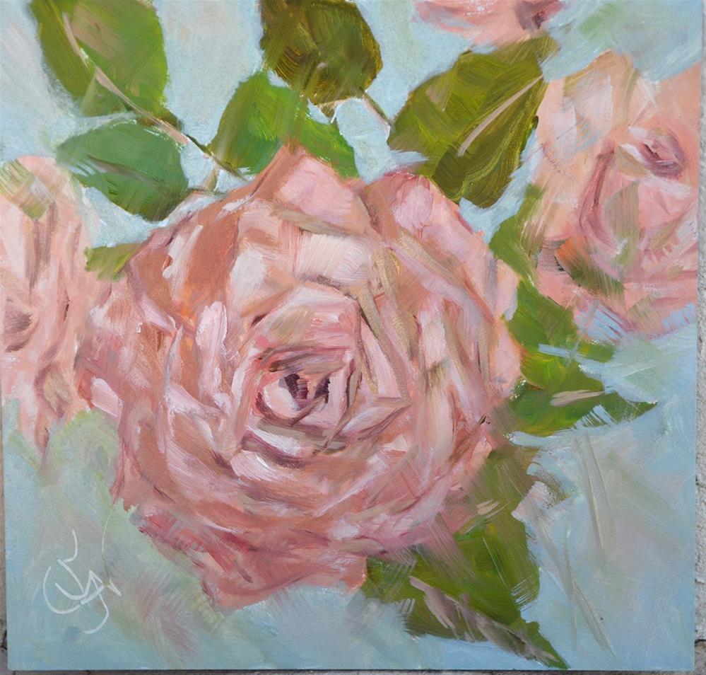 """Razzy's Rose"" original fine art by Jan Jackson"