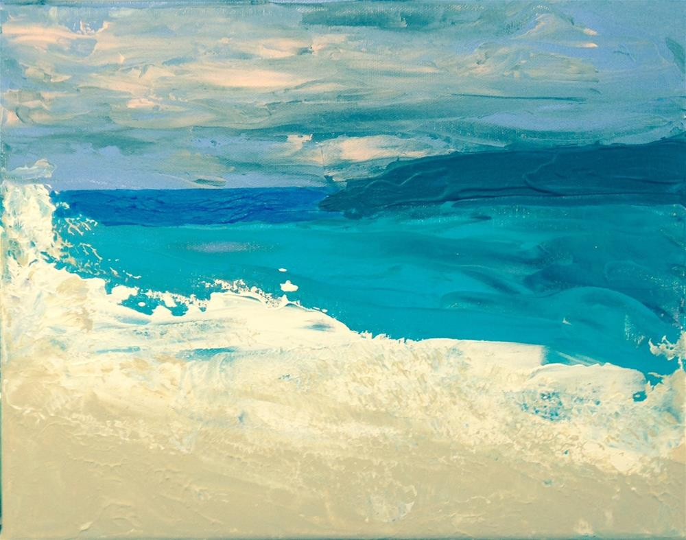 """Colorful Seas"" original fine art by Brenda Smith"