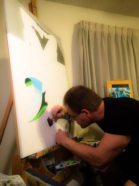 """Mark Adam Webster - Progress on a New Painting - Adrina 3201"" original fine art by Mark Webster"