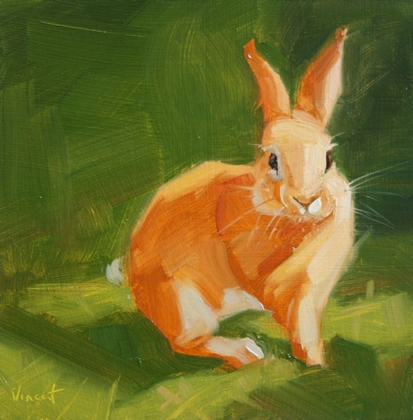"""Sweet Cheeks"" original fine art by Patti Vincent"