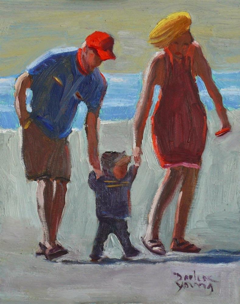 """747 Family Walk"" original fine art by Darlene Young"