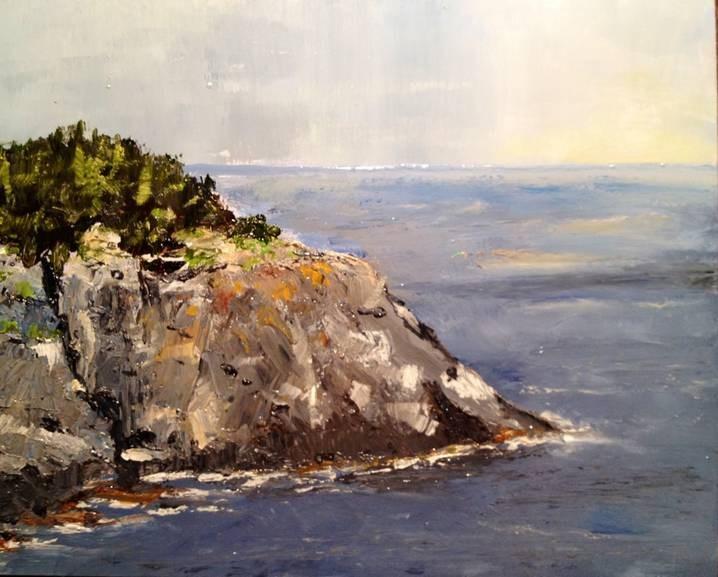"""Monhegan Island"" original fine art by Gary Bruton"