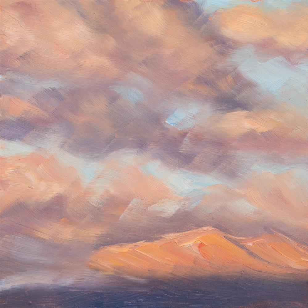 """Alpenglow - Mt Mansfield - Stowe, VT"" original fine art by Sara Gray"