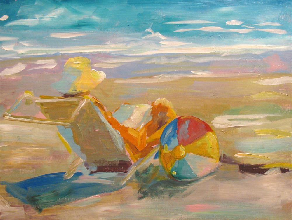 """Seaside Sunset"" original fine art by Susan Elizabeth Jones"