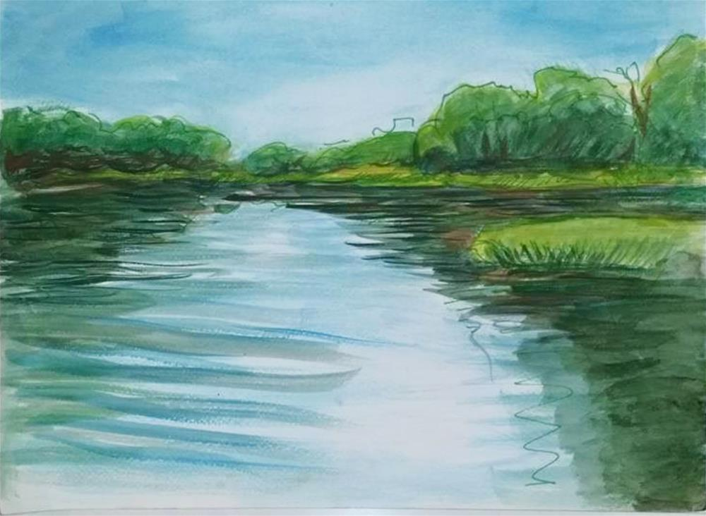 """Blue Water"" original fine art by Selby Minner"