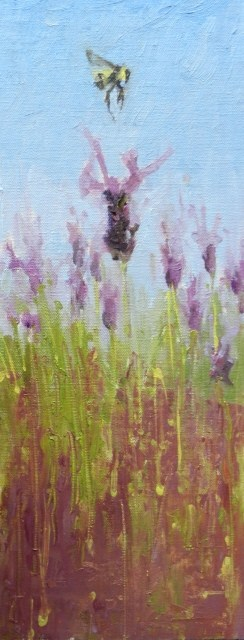 """""""Bee Life oil painting by Robin Weiss"""" original fine art by Robin Weiss"""
