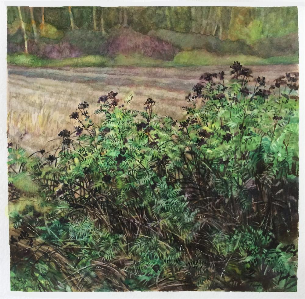 """Fall Meadows"" original fine art by Nicoletta Baumeister"