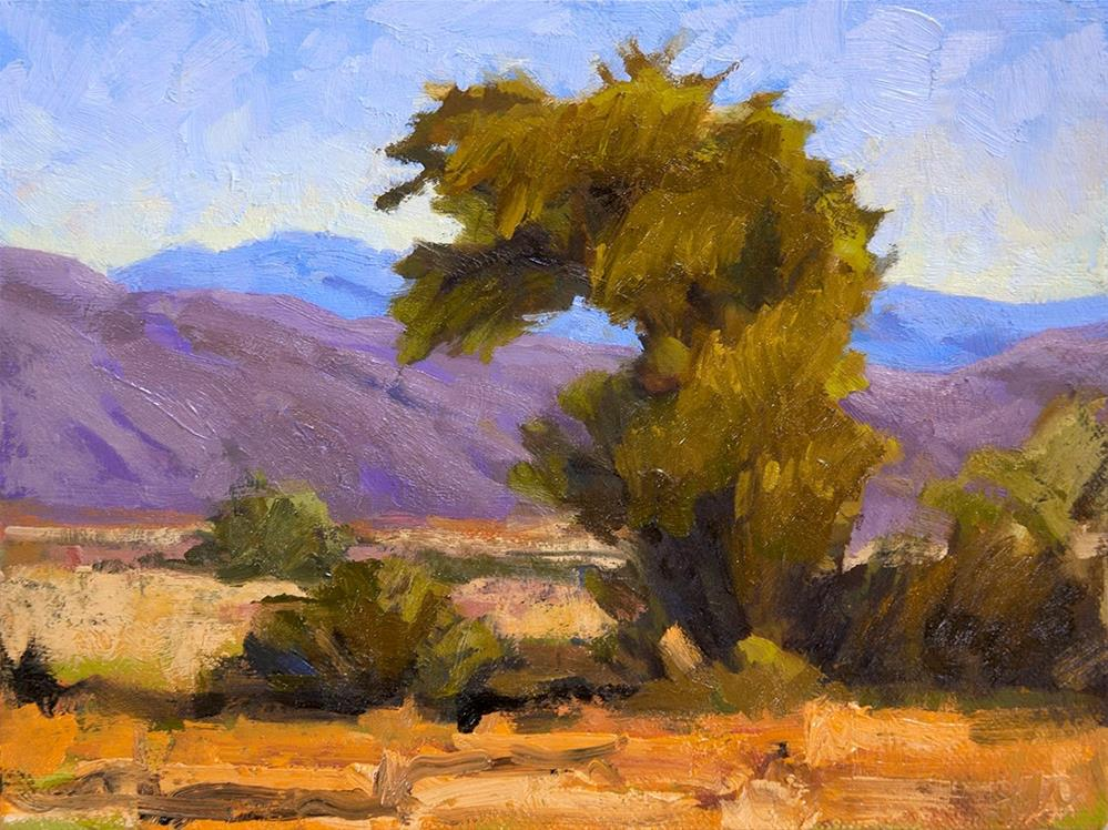 """High Desert Landscape"" original fine art by Miriam Hill"