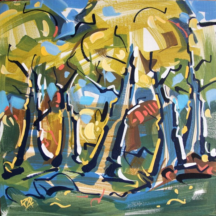 """Forest Exploration 21"" original fine art by Roger Akesson"