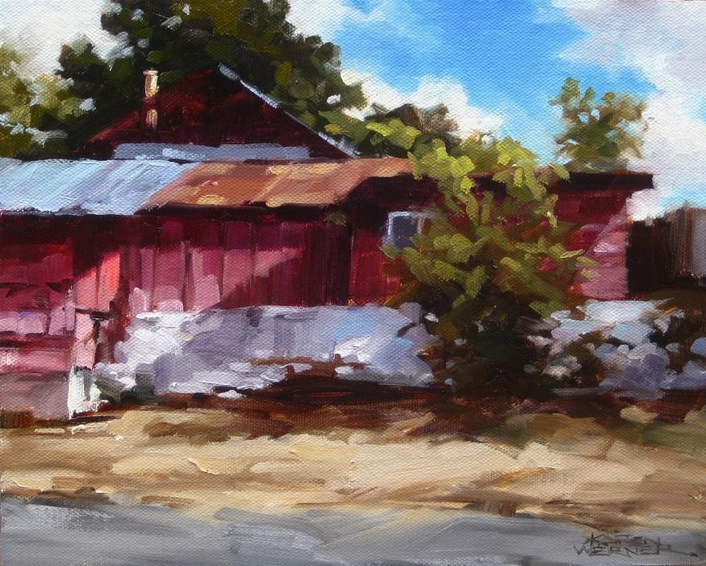 """Light & Shadow, Oak Glen"" original fine art by Karen Werner"