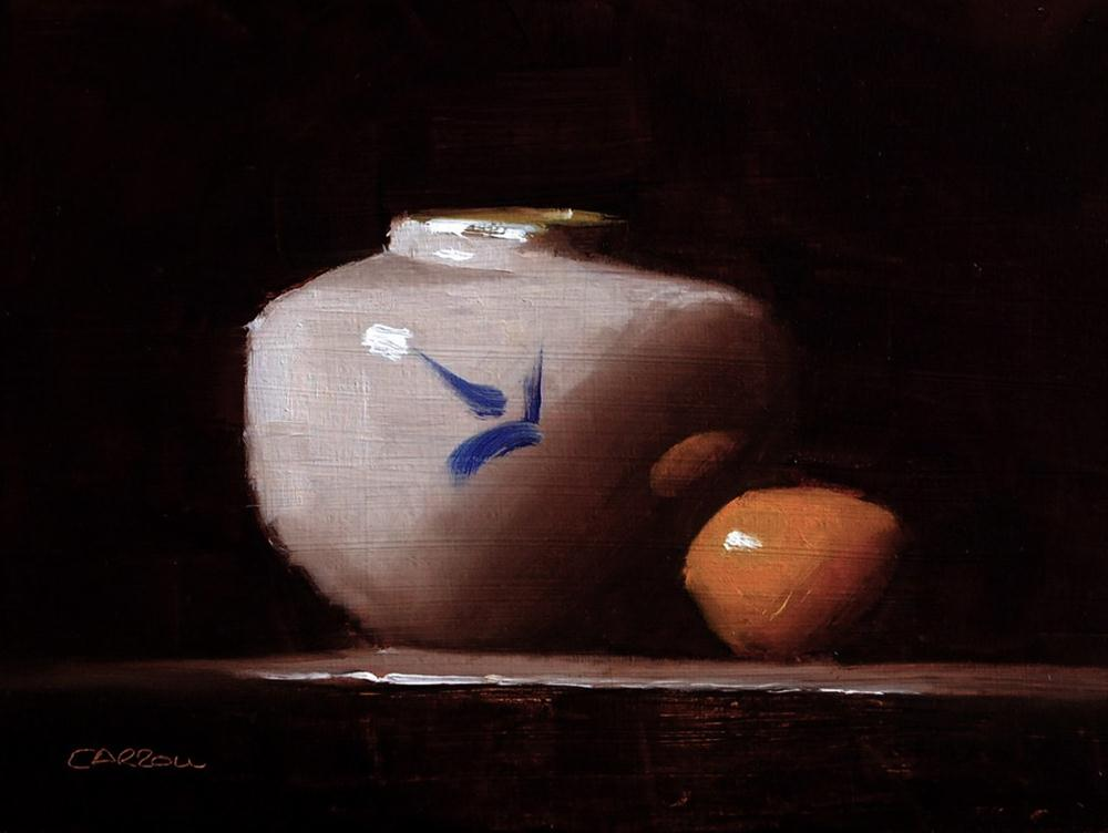 """Small White Vase"" original fine art by Neil Carroll"