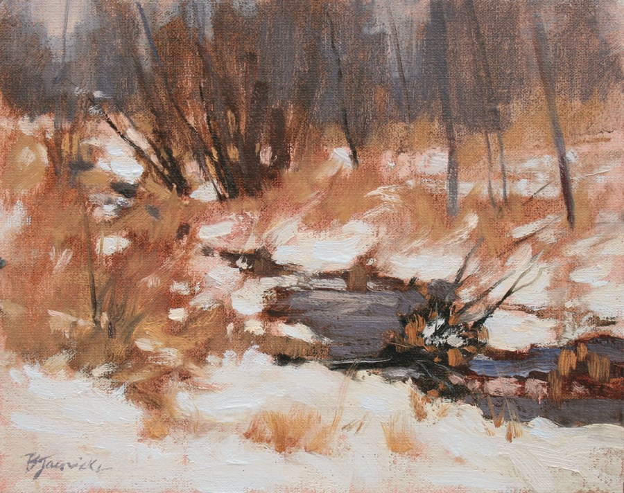 """Early Snow"" original fine art by Barbara Jaenicke"