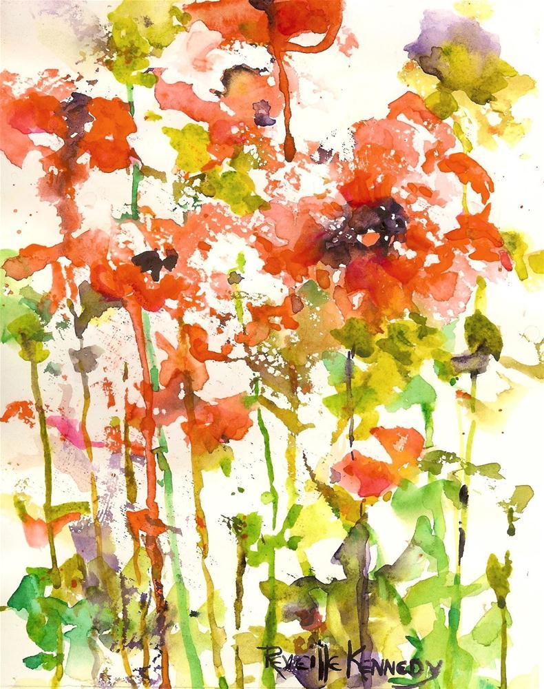 """Happy Papavers"" original fine art by Reveille Kennedy"