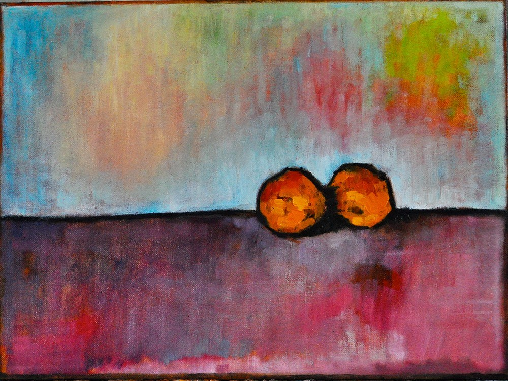 """Orange Ya Glad"" original fine art by Kevin Inman"