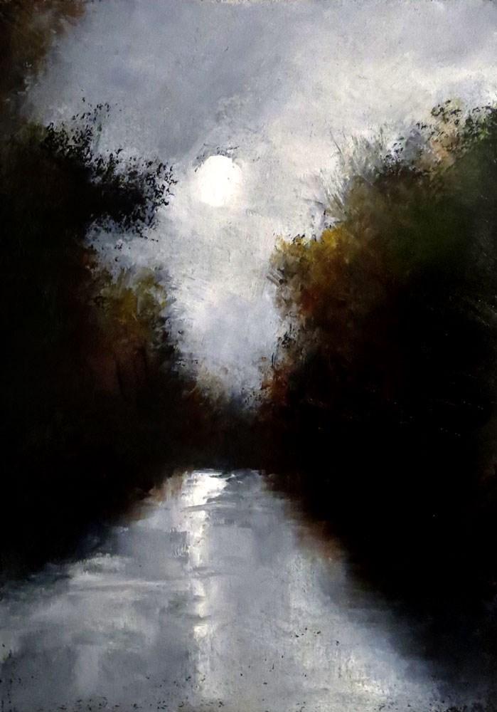"""Mystic River"" original fine art by Bob Kimball"