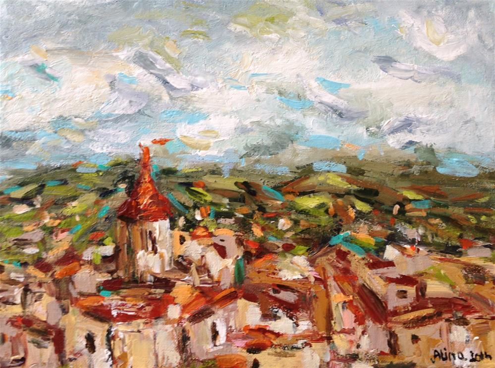 """Village View"" original fine art by Alina Vidulescu"