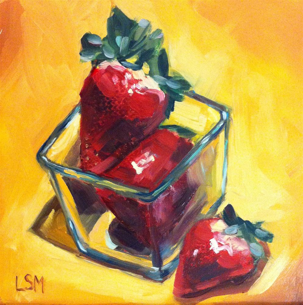 """Strawberry Pick'n"" original fine art by Linda Marino"