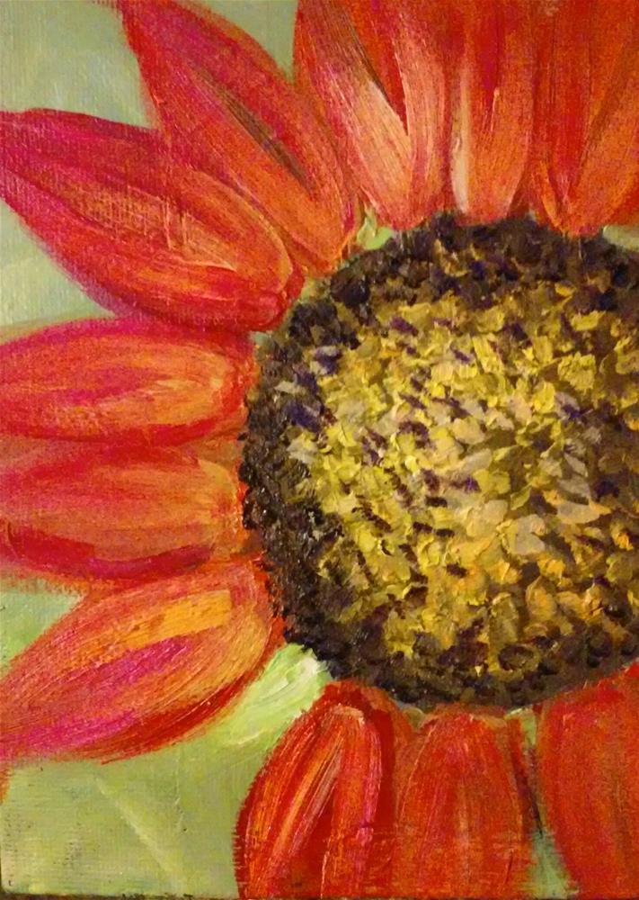 """""""painted daisy"""" original fine art by Gerri Obrecht"""
