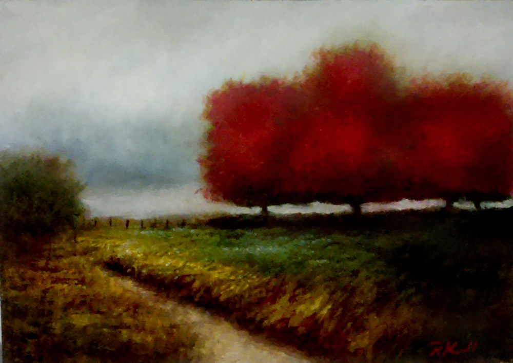 """""""A Fence in the Distance"""" original fine art by Bob Kimball"""