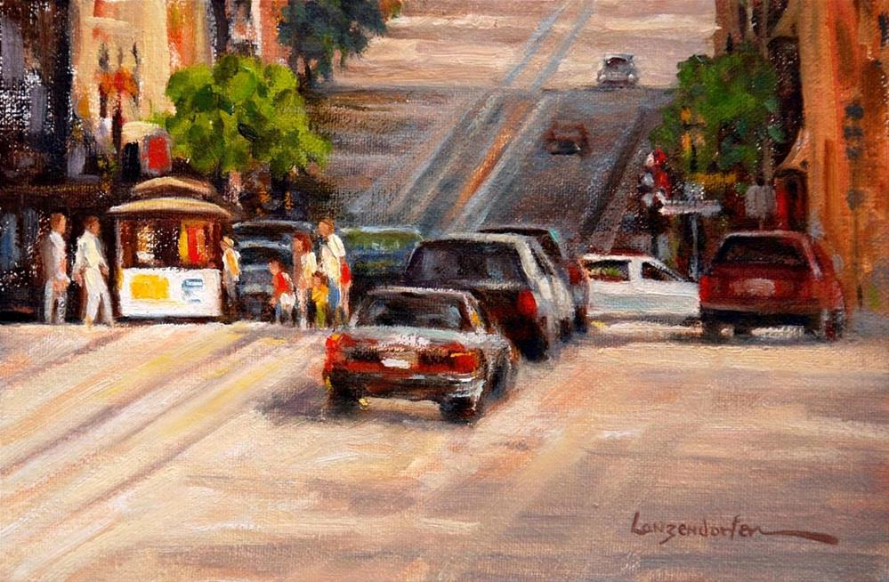 """POWELL STREET CABLE"" original fine art by Dj Lanzendorfer"