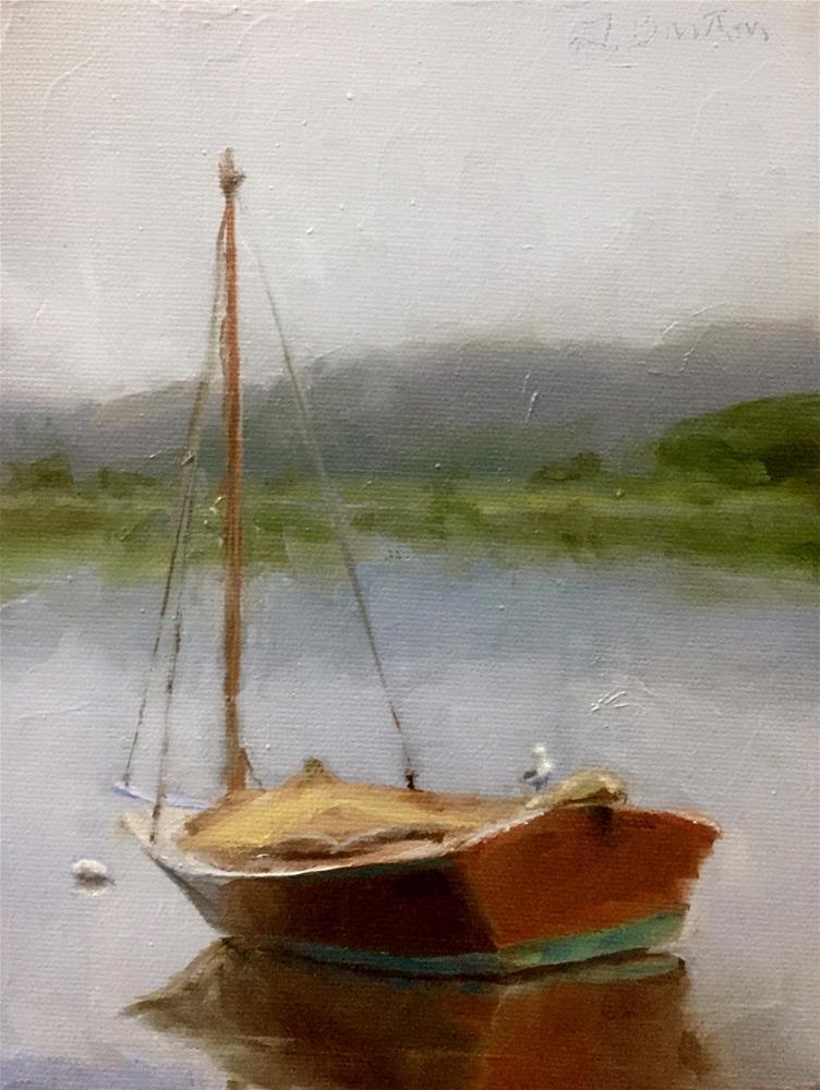 """Gray Day Boat"" original fine art by Gary Bruton"