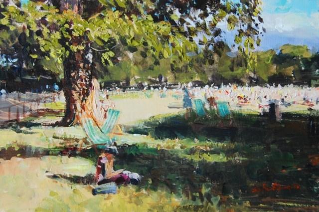 """Summer Shadows, Green Park"" original fine art by Adebanji Alade"
