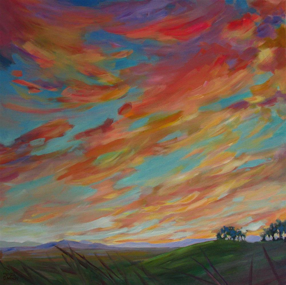 """Clouds & Sky & Magic"" original fine art by Melissa Gannon"