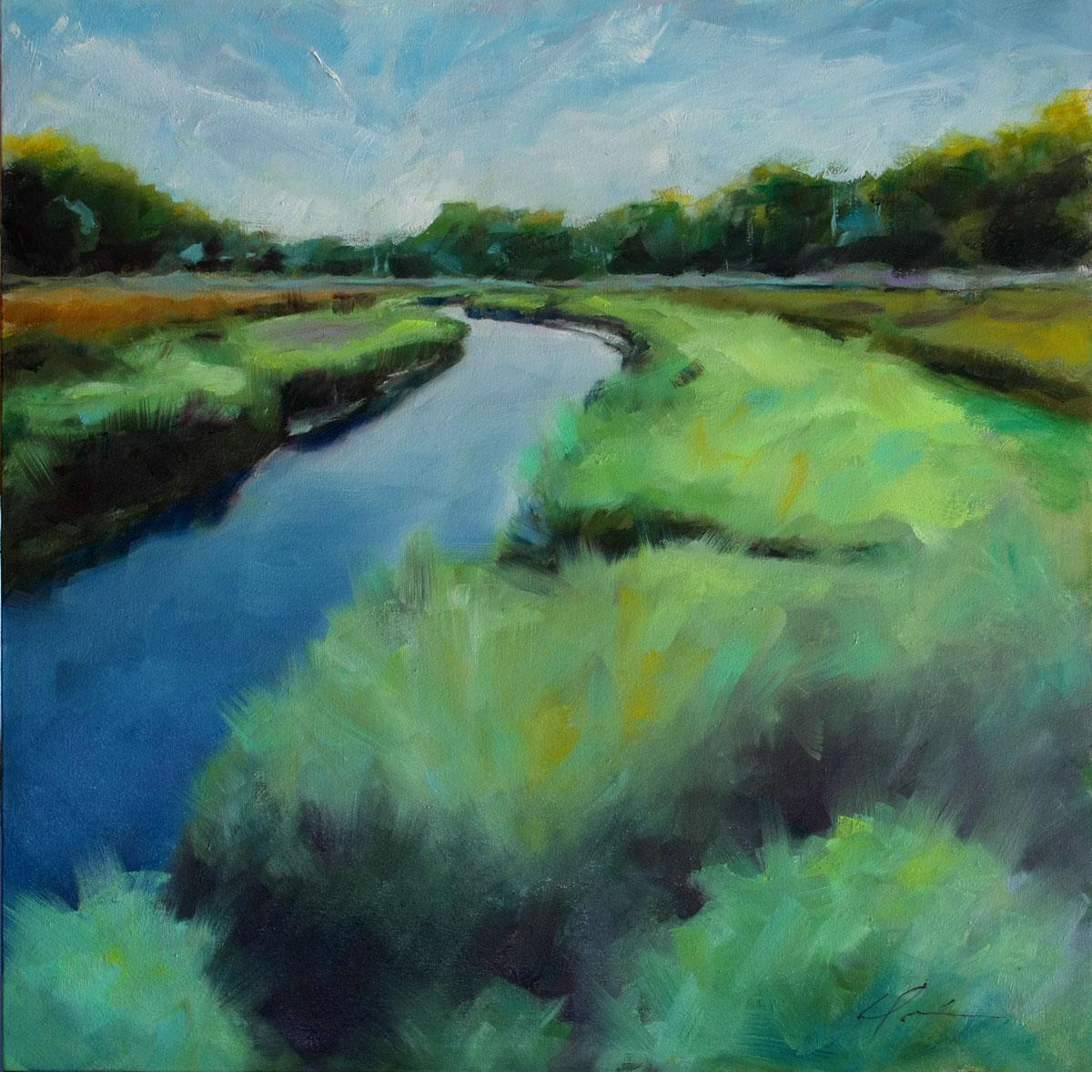 """""""Dawson's Creek"""" original fine art by Clair Hartmann"""