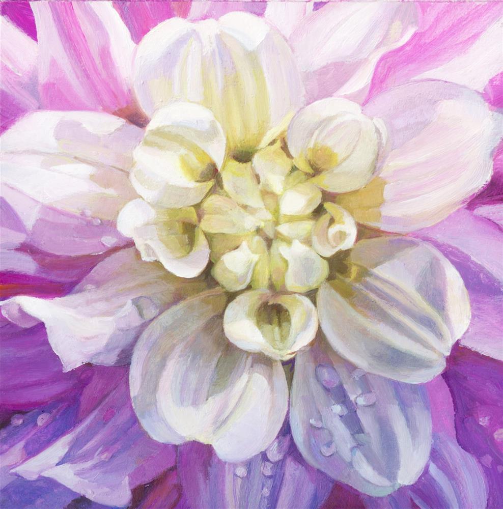 """""""Dahlia detail"""" original fine art by Nicoletta Baumeister"""