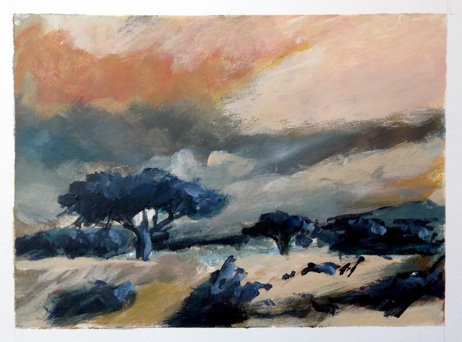 """""""1777 Four Skies (2)"""" original fine art by Dietmar Stiller"""