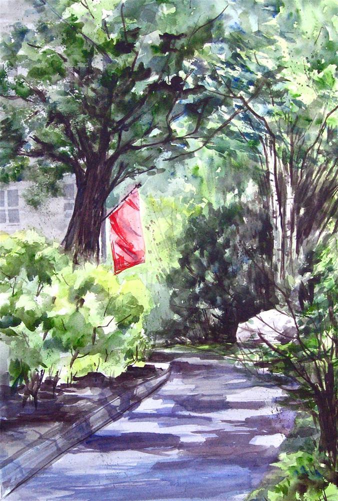 """Summer Shadows"" original fine art by Judith Freeman Clark"