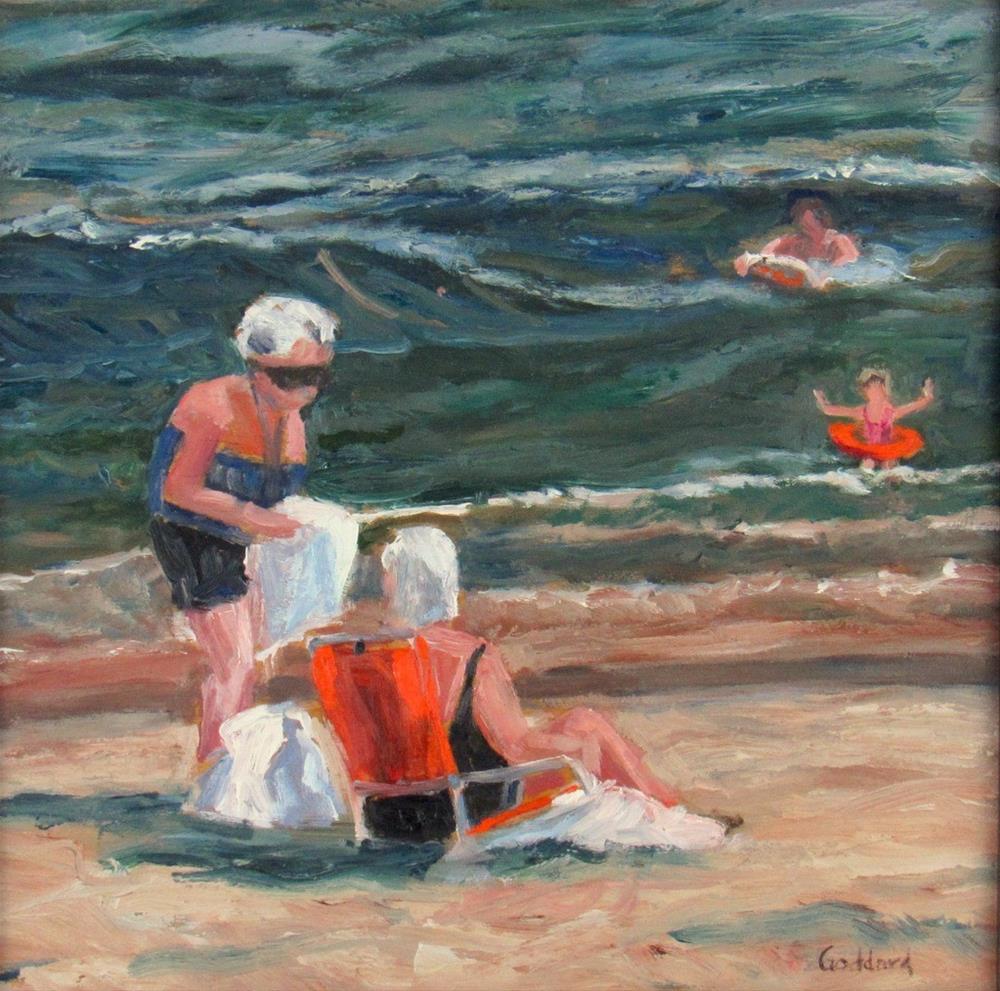 """Catching Up"" original fine art by Shari Goddard Shambaugh"