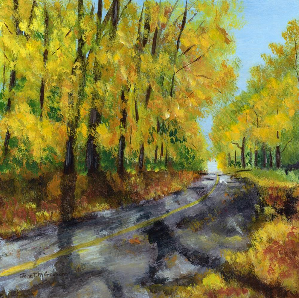 """Autumn Road"" original fine art by Janet Graham"