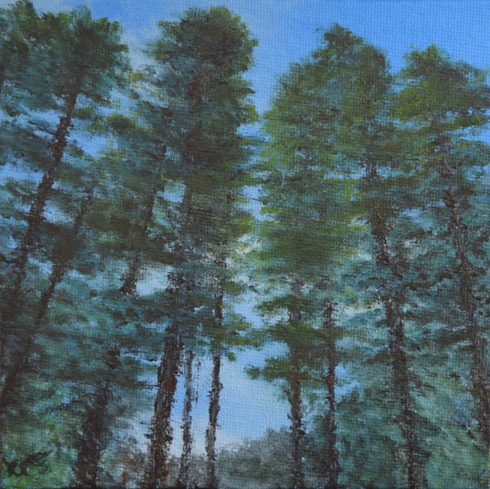 """Favorite Pine Grove"" original fine art by Tisha Mark"