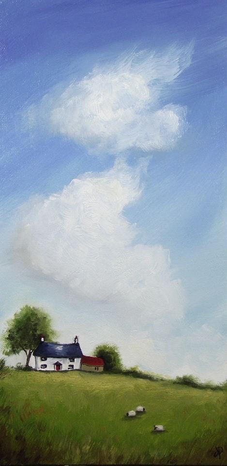 """Big Sky, Little Sheep"" original fine art by Jane Palmer"