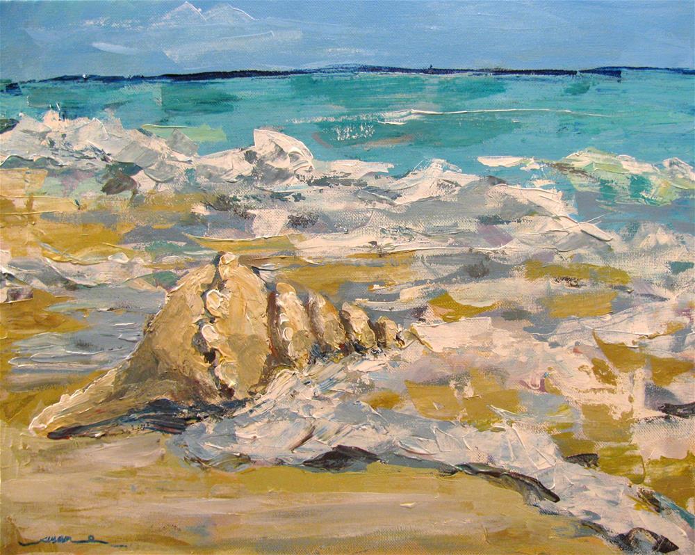 """Gulf Oyster Drill (with palette knife)"" original fine art by Susan Elizabeth Jones"